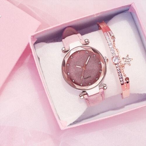 Womens Girls Watch Luxury Smart Leather Fashion Wrist Watch Analog Quartz Gift