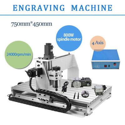 Cnc Router Engraver Machine Engraving Drilling 4 Axis 6040 Desktop Usb Hot