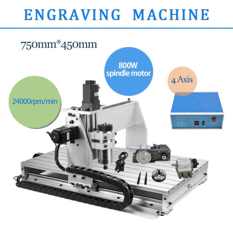 CNC ROUTER ENGRAVER MACHINE ENGRAVING DRILLING 4 AXIS 6040 DESKTOP USB HOT