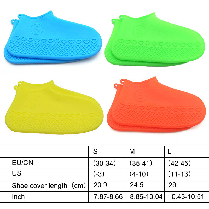 Silicone Recyclable Overshoes Rain Waterproof Shoe Covers Boot Cover Protector