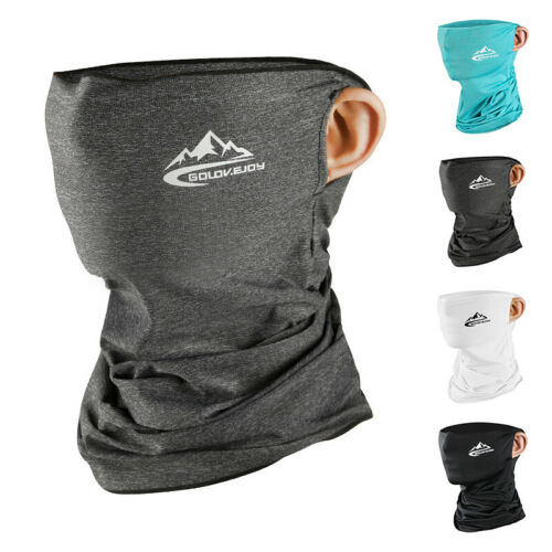 Summer Outdoor Sports Ice Silk Neck Warmer Face Scarf Snoods Scarves Headband