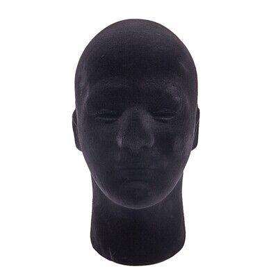 Male Styrofoam Foam Mannequin Manikin Head Model Wigs Glasses Cap Display N7q8