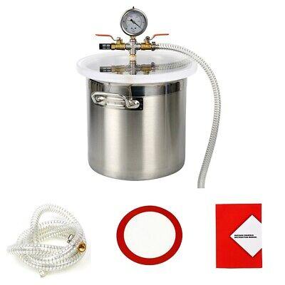 3 Gallons Degassing Vacuum Chamber Degassing Silicones Epoxies Urethane
