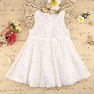 Ivory Off-white Lace Flower Girl or First Communion Dress 4 -New