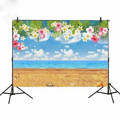 Tropical Party Birthday Backdrop Hawaii Summer Beach Background Vinyl 7*5ft (Beach Party Backdrop)