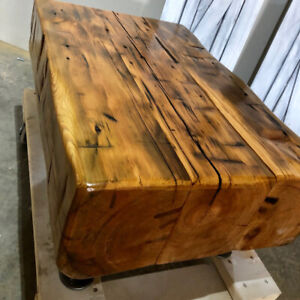 Rustic Reclaimed Barn Beam Coffee Table 100 Year Old Beams