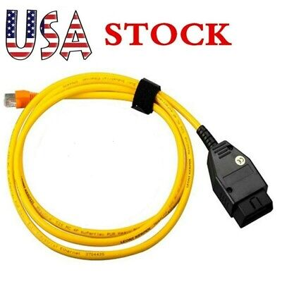 USA ENET Compatible OBD2 Interface Cable E-SYS ICOM Coding F/ BMW F-Series -