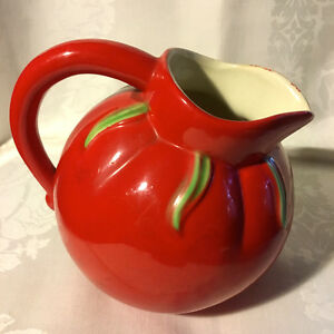 Vintage Pantry Parade Tomato Shaped Figural Ball Juice Pitcher