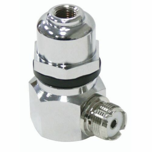 PROCOMM RA930 STAINLESS STEEL RIGHT ANGLE ADAPTOR WITH 3/8″ X 24 THREAD