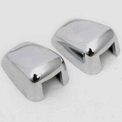2 PC WindShield Washer Water Spray Jet Nozzle Cover ABS Chrome Trim For JEEP ()