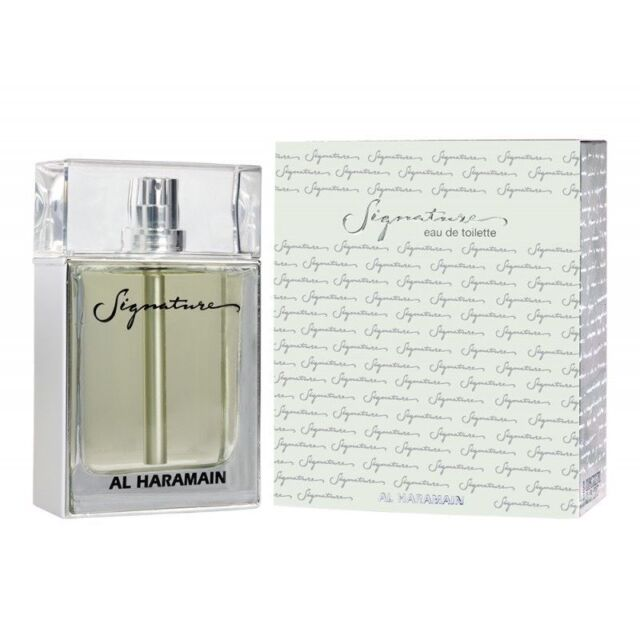 Signature Pour Homme Eau De Toilete with Jasmine Lilly Amber Wood by Al Haramain