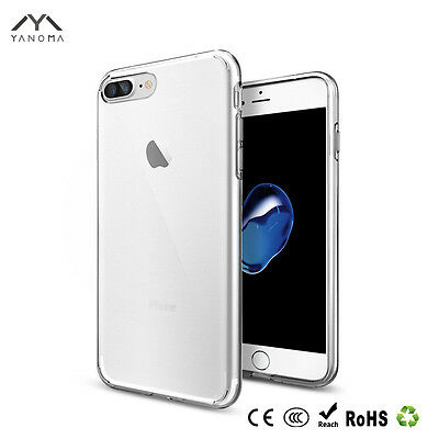iPhone 8 Plus Case Schutz Hülle Clear Ultraslim Silikon Cover Transparent Jumper