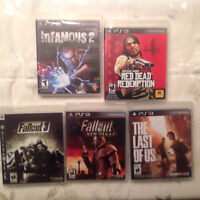 Jeux PS3 -last of us, Fallout 3 & 4, infamous 2, Red dead ...