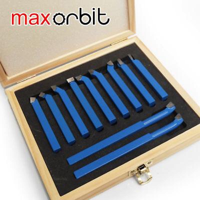 Turning Boring Bit 11pc 10mm38 Mini Lathe Tool Set Carbide Tip Metal Cutting