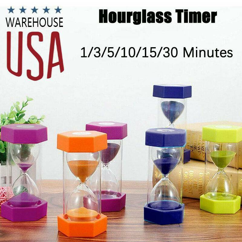 1-60min Hourglass Sand Timer Wooden Hour Glass Sand Clock Ho