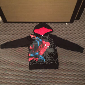 H&M Licensed SPIDERMAN  Fleece Lined Hoodie, Size 4-6, LIKE NEW!