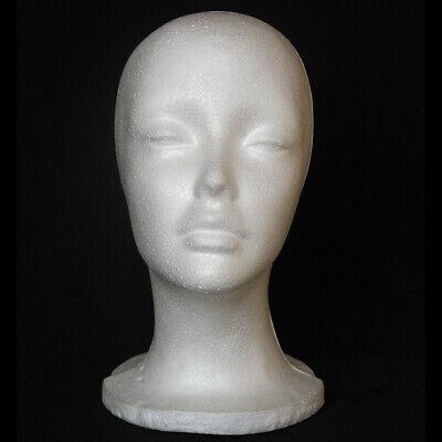 Female Styrofoam Mannequin Foam Head-model Wig Glasses Display Hat Model Stand