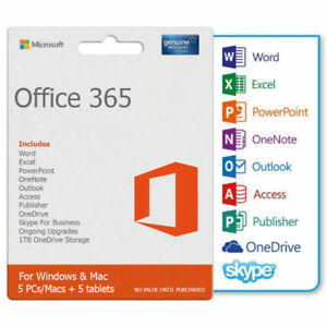 Instant Buy - Genuine Office 365 LIFETIME Account for 5 Devices
