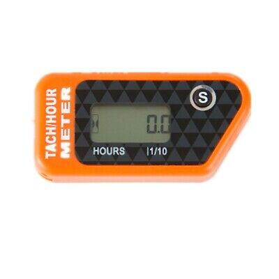 Re-settable Inductive Tach Hour Meter Motorcycle Tachometer Digital ATV Chainsaw