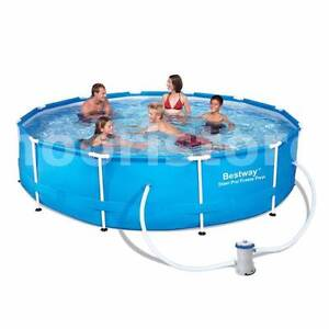 Large Bestway 12 ft Above Ground Frame Pool with Filter Kemps Creek Penrith Area Preview
