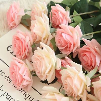 Artificial Silk Fake Rose Flowers Floral Wedding Bouquet Valentine's Day Gift