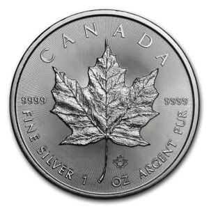 SELLING 1 OZ 2018 CANADIAN SILVER MAPLE COIN