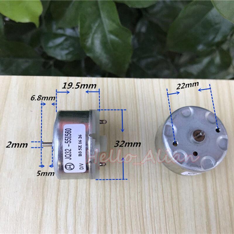 RF-500TB-12560 Mini DC Motor DC 6V-12V 5500RPM 32mm Diameter for Bell Fragrance