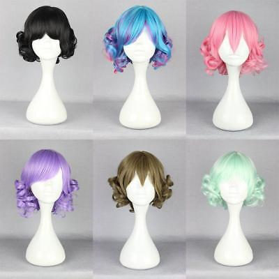 Funny short Long Curly Wavy Hair Full Wigs Harajuku Anime Cosplay Party Wig 2019