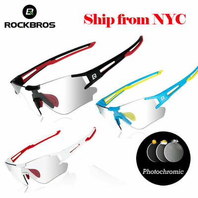 ROCKBROS Bike Polarized Glasses Cycling Photochromic Glasses Goggles Sunglasses