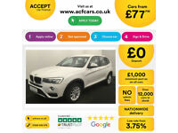 Mineral White BMW X3 2.0TD Auto 2015 sDrive d SE FROM £77 PER WEEK!