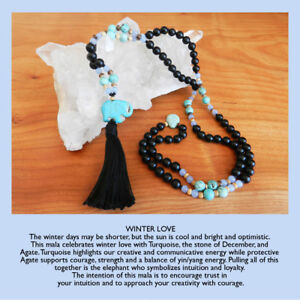 Handcrafted mala beads/ quality materials, semi-precious stones