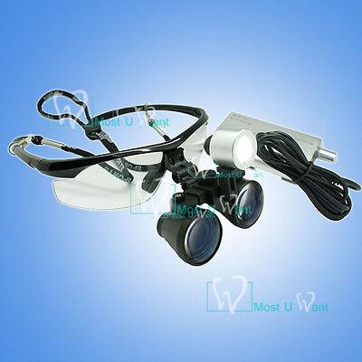 Dental Binocula Surgical Medical Binocular Loupe Glasses 3.5x Led Head Light Ce