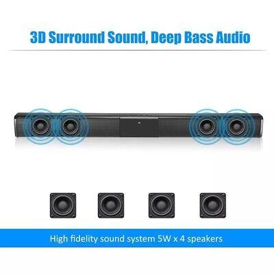 Soundbar 20w Bluetooth 4,2 Theater TV,PC, Altoparlante Microfono Incorporato