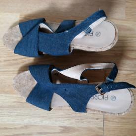 Women sandals or wedges heels