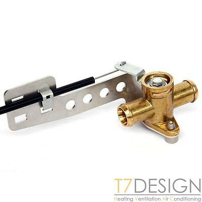 "Brass Heater Valve 13mm (1/2"") Pull to Close Bowden Operated, Kit Race Rally Car"