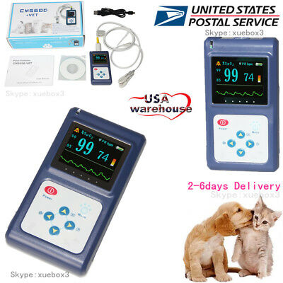 Pets Veterinary Pulse Oximeter Vet Blood Oxygen Heart Rate Spo2 Monitor Dogcat