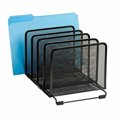 Desktop Mesh Organizer Files Paper Folder Document Sorter Holder Rack Stand New