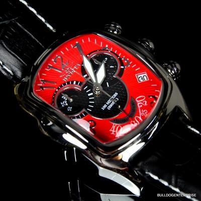 Invicta Dragon Lupah Disney Mickey Chronograph Red Black Swiss Mvt LE Watch New