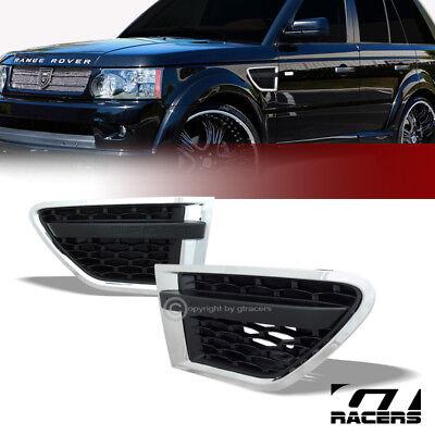 For 10-12 Range Rover Sport Chrome/Black Luxury Mesh Side Fender Air Vent Grille