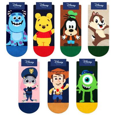 Disney Friends Cartoon Socks Women Girls Pooh Monster Characters Socks 7 Pairs