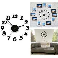 Large Wall mount Clock Big Watch 3D Sticker Roman Numerals DIY Modern Home Decor