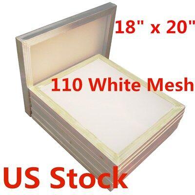 Us-6 Pack Silk Screen Printing Screens 18 X 20 -110 Mesh Aluminum Frame