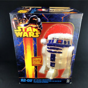"28"" R2-D2 Christmas Statue 3D Lighted Tinsel Indoor Outdoor"