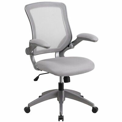 Flash Furniture Mesh Swivel Office Chair In Gray