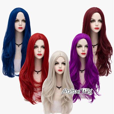 75cm Lolita Basic Long Wavy Anime Halloween Party Cosplay Wig+Cap Heat Resistant (Halloween 75)