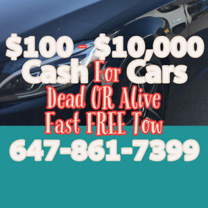 WE APPRECIATE YOU! $100-$10,000 For your Used or Scrap Vehicle
