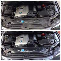 AUTO DETAILING - ENGINE BAY CLEANING AND RIM POLISHING