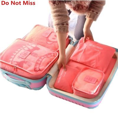 Travel Luggage Mesh Bag In Bag Do Not Miss New 6PCS/Set High Quality Cloth