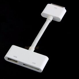 Digital AV Adapter 30-Pin Dock Connector to HDMI for Apple iPad 2 3 iPhone 4 4S