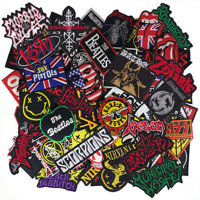 Wholesale Lot Music Punk Rock Reggae HipHop Logo Sew Iron Embroidered on Patch - Punk Wholesale